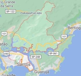 mapa santos sp